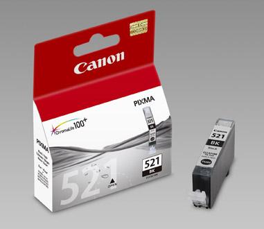 Original Cartouche d'encre noire originale ID-Fabricant: CLI-521bk, 2933B001 Canon Pixma MP 620