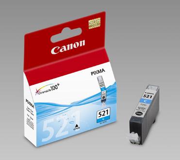Original Cartouche d'encre cyan originale ID-Fabricant: CLI-521c, 2934B001 Canon Pixma MP 620