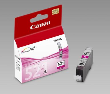 Original Cartouche d'encre magenta originale ID-Fabricant: CLI-521m, 2935B001 Canon Pixma MP 620