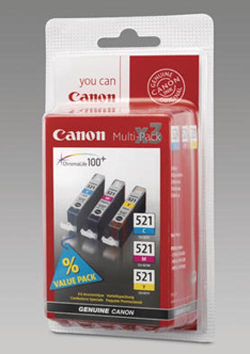 Original Multipack d'encre originale couleur, ID-Fabricant: CLI-521PA Canon Pixma MP 620