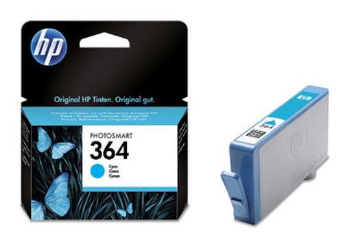 Original Cartouche d'encre cyan originale,  ID-Fabricant: No. 364, CB318EE HP PhotoSmart Premium C 410 Series