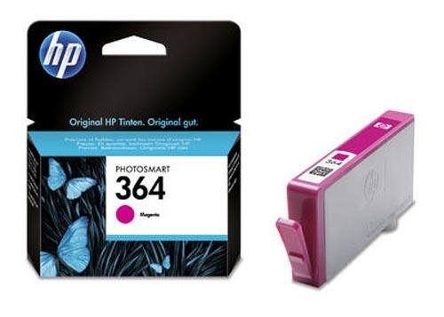 Original Cartouche d'encre magenta originale,  ID-Fabricant: No. 364, CB319EE HP PhotoSmart Premium C 410 Series