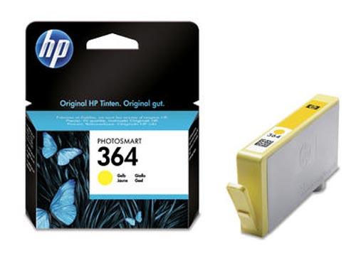 Original Cartouche d'encre jaune originale,  ID-Fabricant: No. 364, CB320EE HP PhotoSmart C 5390
