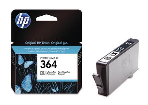 Original Cartouche d'encre originale photo noire, ID-Fabricant: No. 364, CB317EE HP PhotoSmart Premium C 410 Series