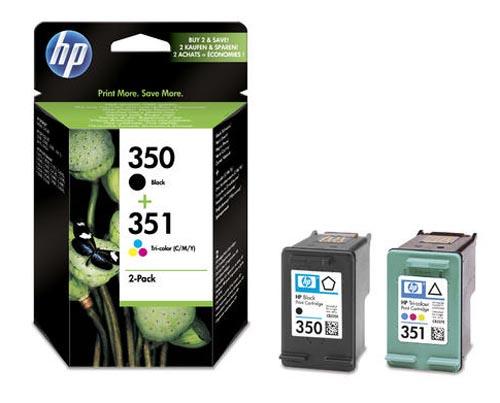 Original Pack combiné des cartouches d'encre originales noire et couleur ID-Fabricant: No. 350, No. 351, SD412EE HP OfficeJet J 5780
