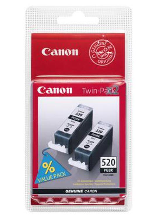 Original 2 cartouches d'encre noires originales ID-Fabricant: PGI-520, PGI-520PA Canon Pixma MP 620