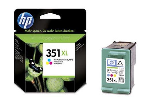 Original Cartouche d'encre couleur originale, ID-Fabricant: No. 351XL, CB338EE HP OfficeJet J 5780