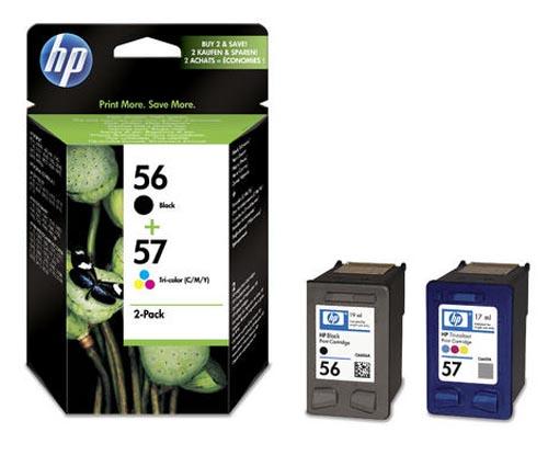 Original Pack combiné des cartouches d'encre originales noire et couleur, ID-Fabricant: No. 56,No. 57, SA342AE HP PSC 1310