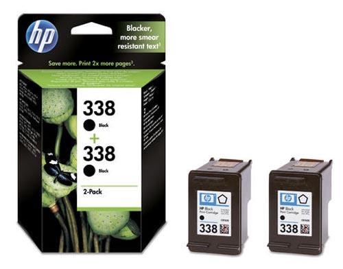 Original 2 cartouches d'encre noires originales ID-Fabricant: No. 338, CB331EE HP PSC 1510