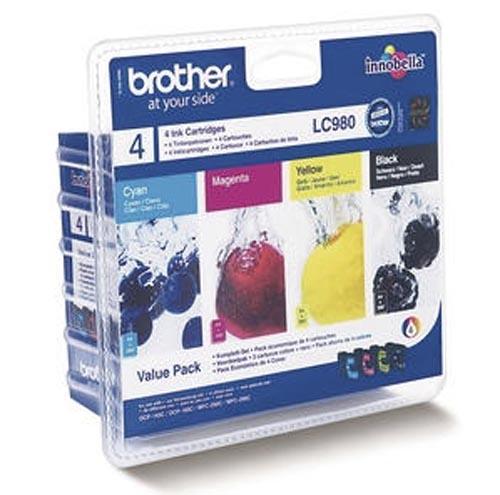 Original Encre originale paquet valeur, noir, couleur ID-Fabricant: LC-980VAL Brother DCP-163 C