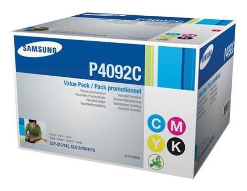 Original Kit arc-en-ciel de toner original, noir et couleur ID-Fabricant: CLT-P4092 Samsung CLP-315 N