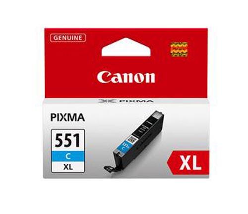 Original Cartouche d'encre cyan originale, XL ID-Fabricant: CLI-551, CLI-551C XL Canon Pixma MG 6350