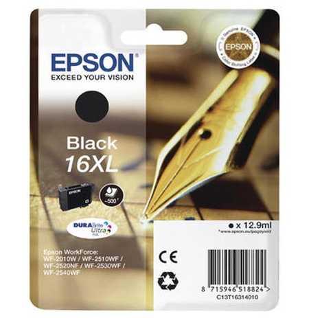 Original Cartouche d'encre noire originale, XL ID-Fabricant: No. 16XL bk, T16314 Epson WorkForce WF-2530 WF