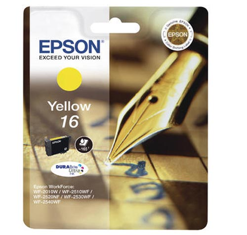 Original Cartouche d'encre jaune originale ID-Fabricant: No. 16 y, T16244 Epson WorkForce WF-2010 W