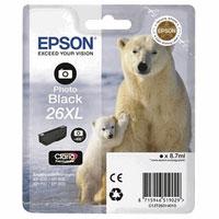 Original Cartouche d'encre originale XL noir photo ID-Fabricant: No. 26XL pbk, T2631 Epson Expression Premium XP-700