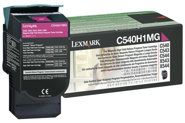 Original Cartouche de toner magenta originale ID-Fabricant: C540H1MG, C54x, X54x Lexmark C 544 DN