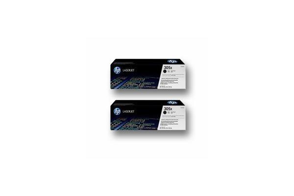 Original 2 cartouches toner original HY noir ID-Fabricant: No. 305XD, CE410XD HP LaserJet Pro 400 color M 451 dn