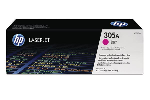 Original Cartouche de toner magenta originale ID-Fabricant: No. 305A, CE413A HP LaserJet Pro 400 color M 451 dn
