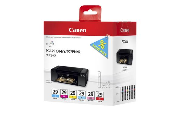 Original Cartouches d'encre Multipack originale CMY/PC/PM/R Canon Pixma Pro 1