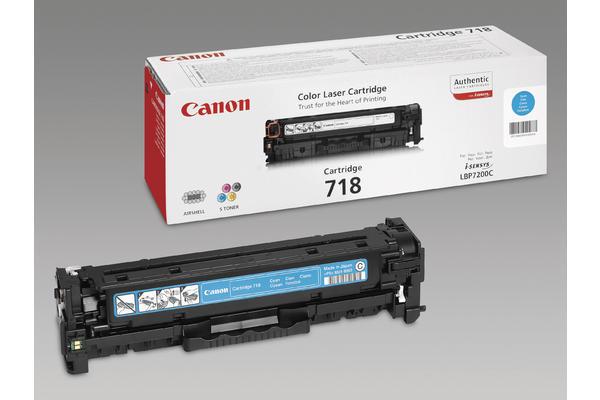 Original Cartouche de toner cyan originale ID-Fabricant: 2661B002, 718 Canon ISensys LBP-7200 cdn