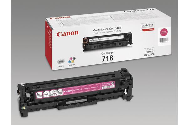 Original Cartouche de toner magenta originale ID-Fabricant: 2660B002, 718 Canon ISensys LBP-7200 cdn