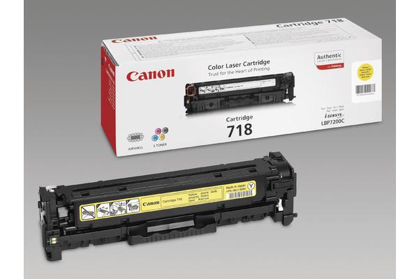 Original Cartouche de toner jaune originale ID-Fabricant: 2659B002, 718 Canon ISensys LBP-7200 cdn