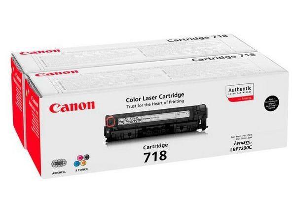 Original  Toner Cartridges twinpack XL black ID-Fabricant: 2662B005, 718 Canon ISensys LBP-7200 cdn
