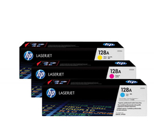 Original 3 cartouches toner original CMY (Rainbow-Kit) ID-Fabricant: No. 128A, CF371AM HP LaserJet Pro CM 1415 fnw