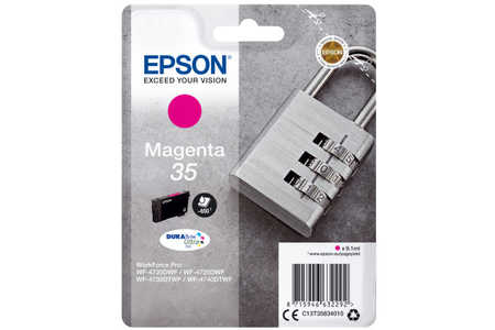 Original Cartouche d'encre magenta originale ID-Fabricant: No. 35, T358340 Epson WorkForce Pro WF-4735 DTWF