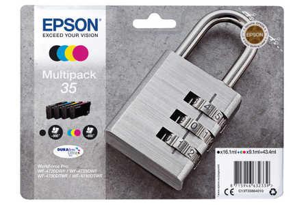 Original Cartouches d'encre Multipack originale BKCMY ID-Fabricant: No. 35, T358640 Epson WorkForce Pro WF-4735 DTWF