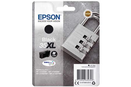 Original Cartouche d'encre noire originale ID-Fabricant: No. 35XL, T359140 Epson WorkForce Pro WF-4735 DTWF