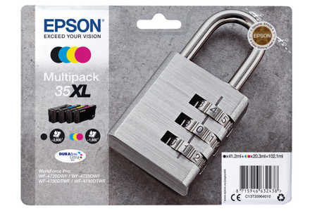 Original Cartouches d'encre Multipack originale BKCMY ID-Fabricant: No. 35XL, T359640 Epson WorkForce Pro WF-4735 DTWF