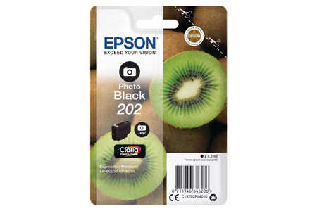 Original Cartouche d'encre photo noire originale ID-Fabricant: No. 202, T02F140 Epson Expression Premium XP-6000