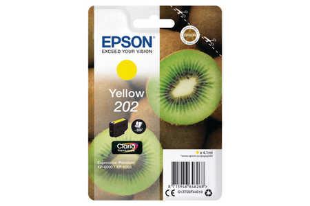 Original Cartouche d'encre jaune originale ID-Fabricant: No. 202, T02F440 Epson Expression Premium XP-6000