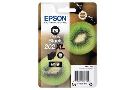Original Cartouche d'encre photo noire originale ID-Fabricant: No. 202XL, T02H140 Epson Expression Premium XP-6000