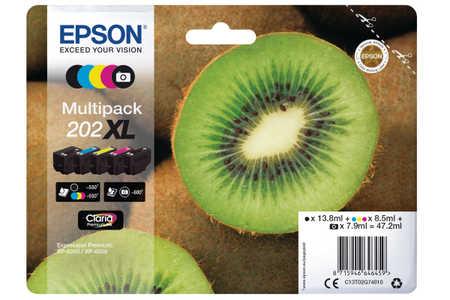 Original Cartouches d'encre Multipack originale BKCMY ID-Fabricant: No. 202XL, T02G740 Epson Expression Premium XP-6000