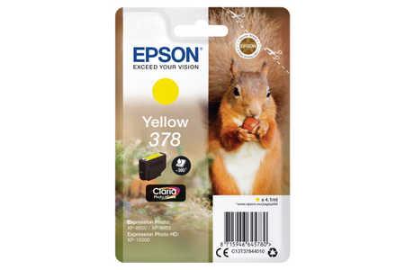 Original Cartouche d'encre jaune originale ID-Fabricant: No. 378, T378440 Epson Expression Photo XP-8600