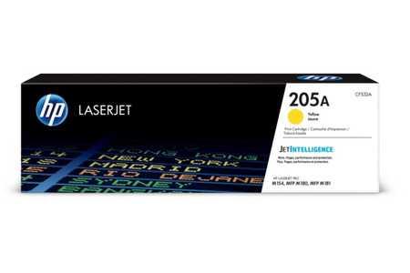 Original Cartouche de toner jaune originale ID-Fabricant: No. 205A, CF532A HP Color LaserJet Pro MFP M 181 fw