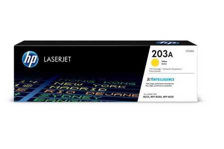 Original Cartouche de toner jaune originale ID-Fabricant: No. 203A, CF542A HP Color LaserJet Pro M 254 dw
