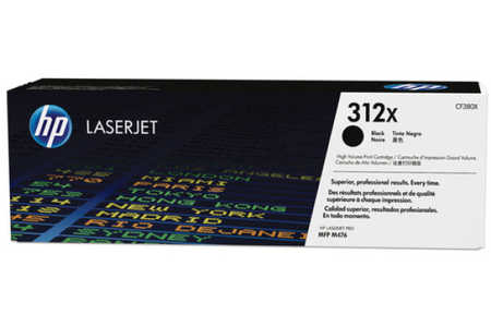 Original Cartouche de toner noir originale ID-Fabricant: No. 312X, CF380X HP Color LaserJet Pro MFP M 476 dw