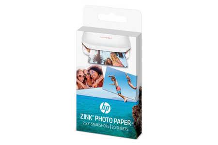 Original  ZINK Photo Paper 5x7,6cm, 20 sheets, self-adhesive ID-Fabricant: W4Z13A HP Sprocket Photo Printer purple
