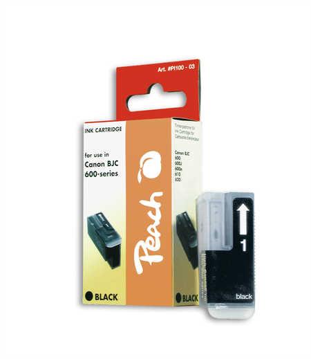 Peach Cartouche d'encre  noir, compatible avec ID-Fabricant: BJI-201 bk Apple Color Stylewriter PRO