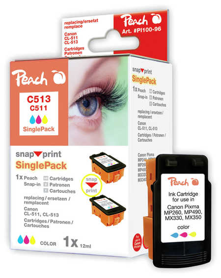 Peach Cartouche d'encre  jaune, compatible avec ID-Fabricant: BJI-201 y Apple Color Stylewriter PRO