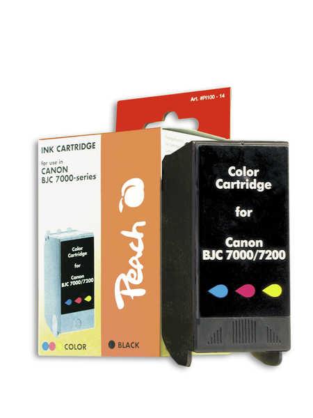Peach Cartouche d'encre  couleur, compatible avec ID-Fabricant: BCI-61 Canon BJC 7004