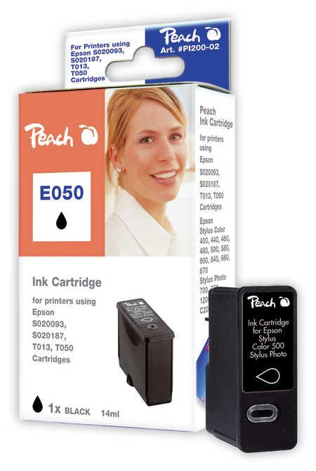 Peach Cartouche d'encre  noir, compatible avec ID-Fabricant: T013, S020187, S020093, S020108 Epson Stylus Color 480 SXU