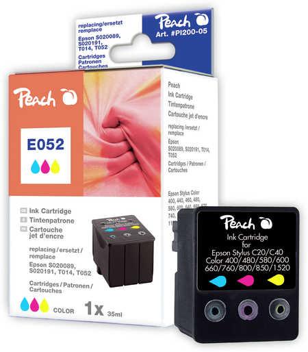 Peach Cartouche d'encre  couleur, compatible avec ID-Fabricant: T014, , T052, S020089, S020191 Epson Stylus Color 670