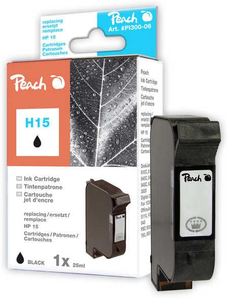 Peach Tête d'impression  noire, compatible avec ID-Fabricant: No. 15, C6615D HP DeskJet 810 C