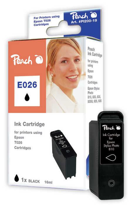Peach Cartouche d'encre  noir, compatible avec ID-Fabricant: T026 Epson Stylus Photo 820