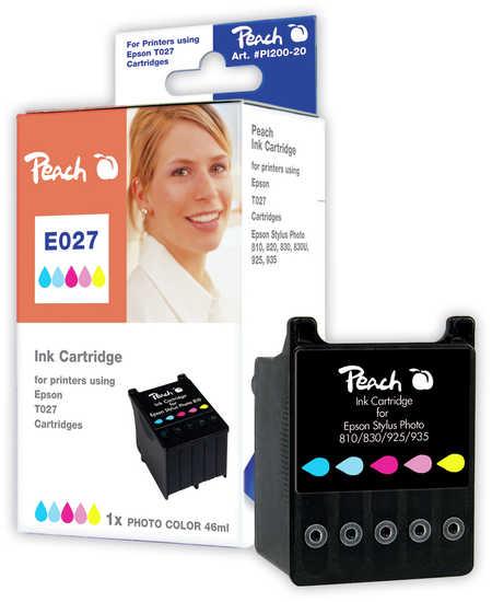 Peach Cartouche d'encre  couleur, compatible avec ID-Fabricant: T027 Epson Stylus Photo 830