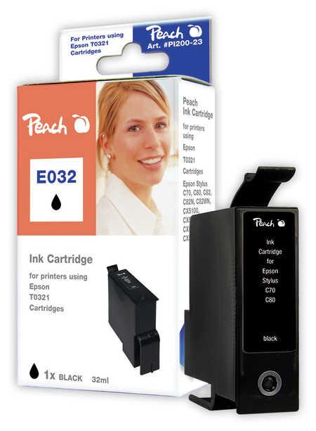 Peach Cartouche d'encre  noir, compatible avec ID-Fabricant: T0321 Epson Stylus C 82